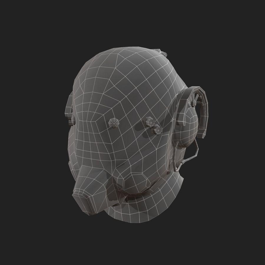 Helmet scifi military combat royalty-free 3d model - Preview no. 5