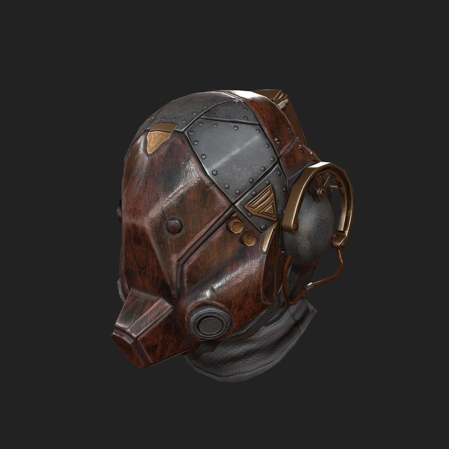 Helmet scifi military combat royalty-free 3d model - Preview no. 2