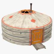 Yurt of Mongolian Nomads 3d model