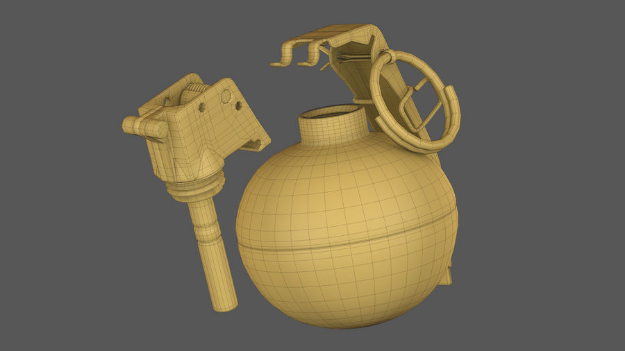 Fragmentation Infantry Hand Grenade M67 royalty-free 3d model - Preview no. 12