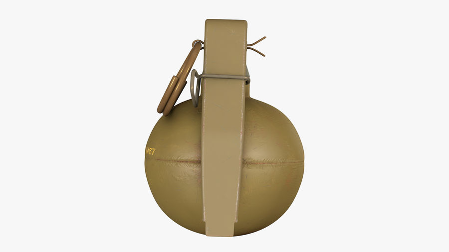 Fragmentation Infantry Hand Grenade M67 royalty-free 3d model - Preview no. 5