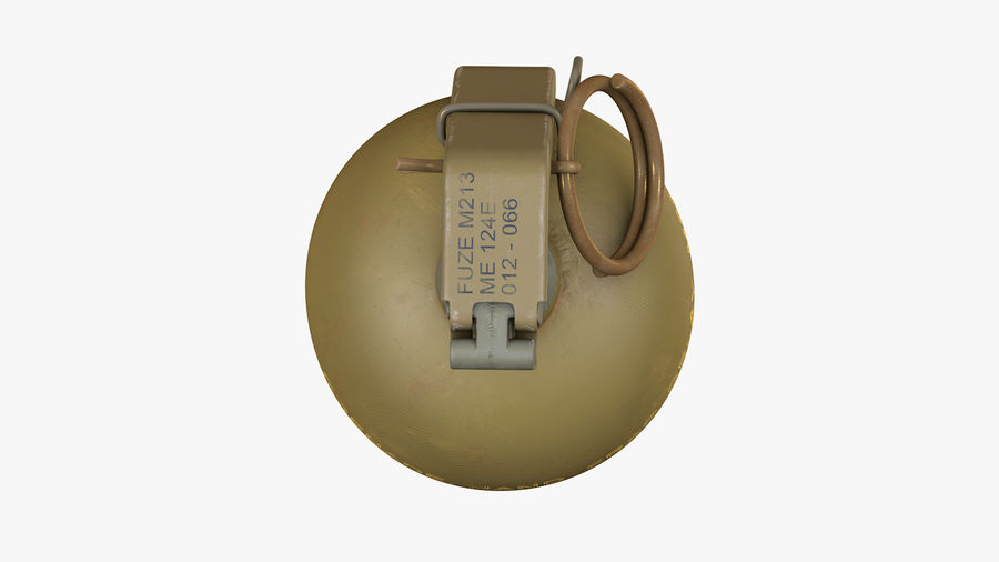 Fragmentation Infantry Hand Grenade M67 royalty-free 3d model - Preview no. 6