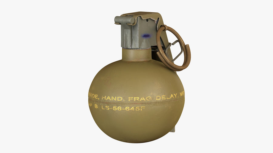 Fragmentation Infantry Hand Grenade M67 royalty-free 3d model - Preview no. 4