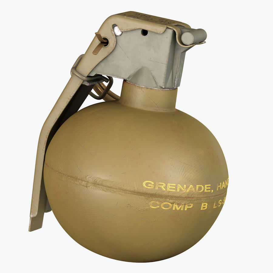 Fragmentation Infantry Hand Grenade M67 royalty-free 3d model - Preview no. 1