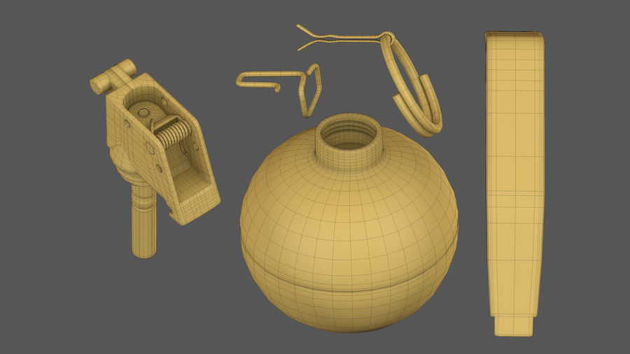 Fragmentation Infantry Hand Grenade M67 royalty-free 3d model - Preview no. 13