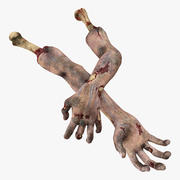 Mains de zombie effrayant 3d model