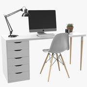 Apple iMac Workstation Desk 3d model