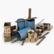 Gestapelte Trümmer 3d model