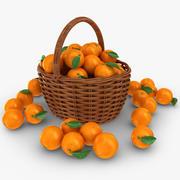 Orange Basket 3d model
