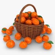 Tangerine Basket 3d model
