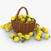 Lemon Basket 3d model