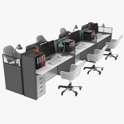 Офисная рабочая станция 3d model