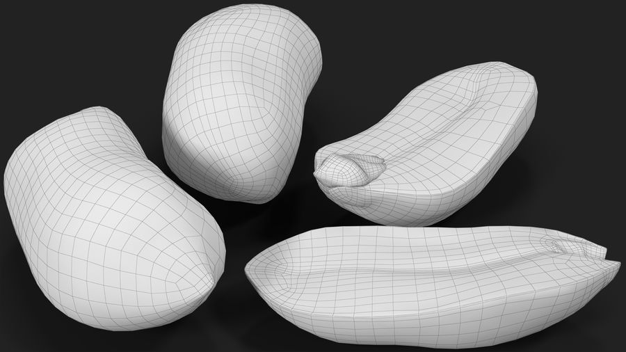 Peanut Seeds 2 royalty-free 3d model - Preview no. 27