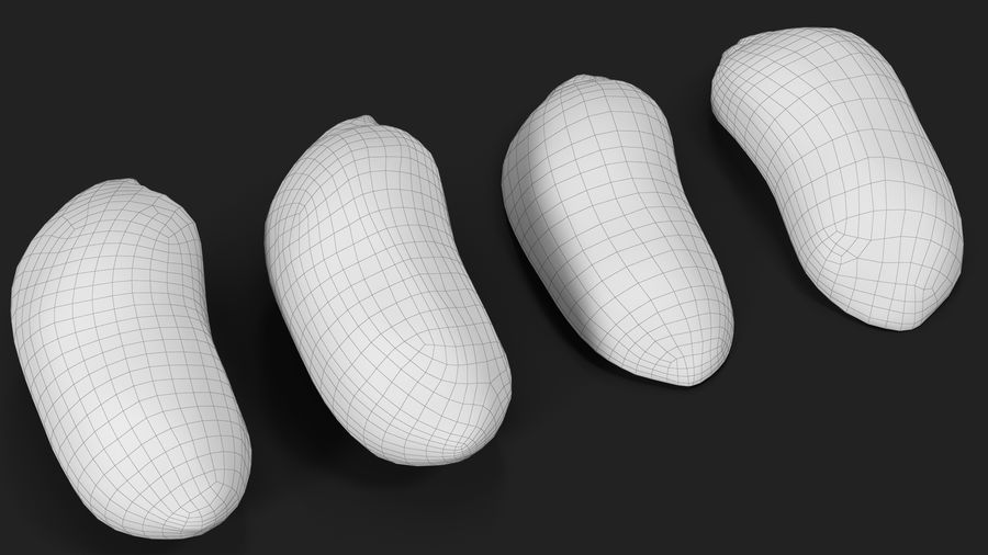 Peanut Seeds 2 royalty-free 3d model - Preview no. 41
