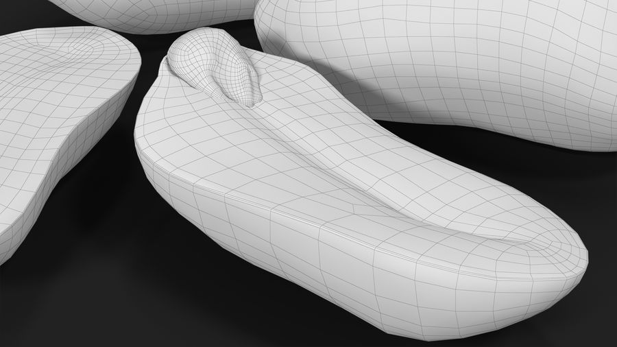 Peanut Seeds 2 royalty-free 3d model - Preview no. 36