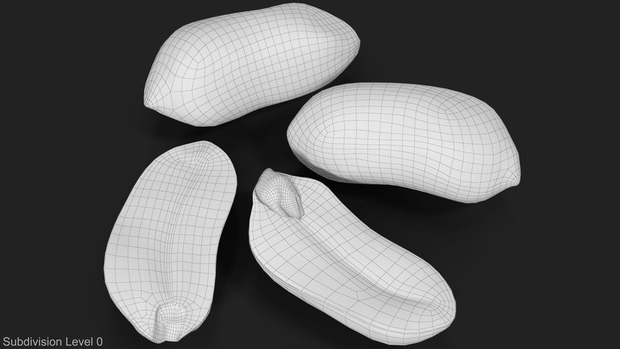 Peanut Seeds 2 royalty-free 3d model - Preview no. 21