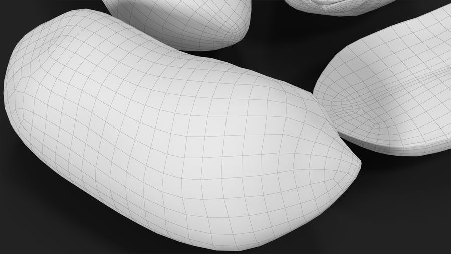 Peanut Seeds 2 royalty-free 3d model - Preview no. 31