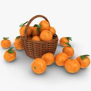 Grapefruit Basket 3d model