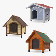 Dog Houses Collection 3d model