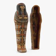 Egyptiska sarkofagguld 3d model