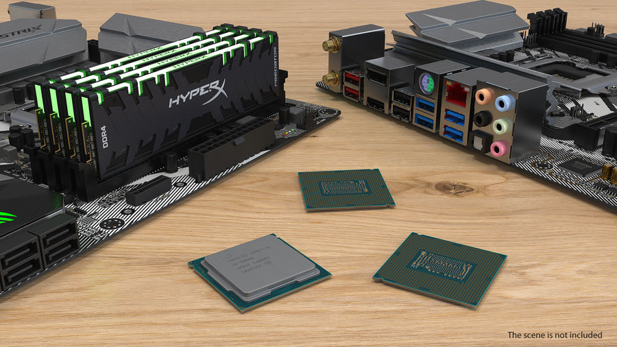 Collection de processeurs Intel et AMD royalty-free 3d model - Preview no. 16