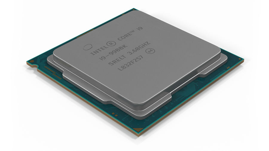 Intel und AMD CPU Collection royalty-free 3d model - Preview no. 15