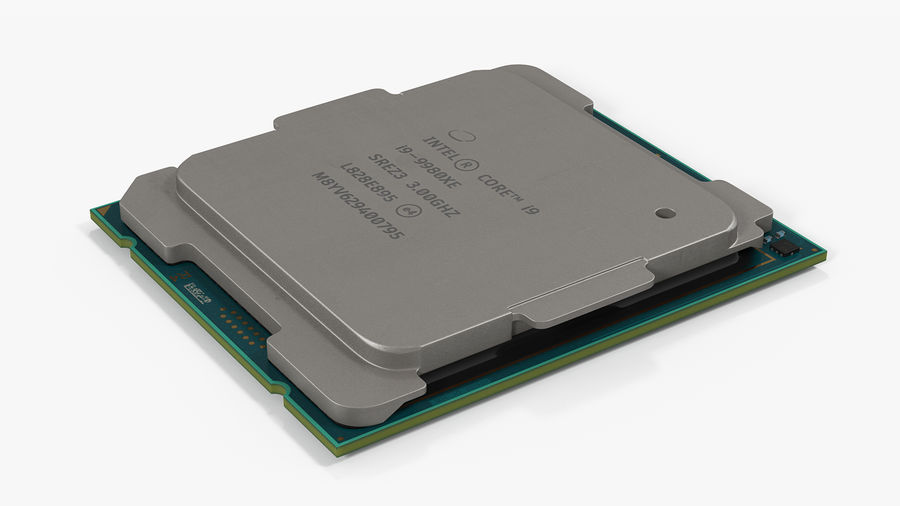 Intel und AMD CPU Collection royalty-free 3d model - Preview no. 7