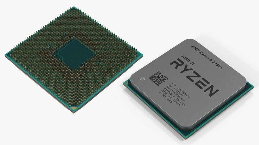 Intel und AMD CPU Collection royalty-free 3d model - Preview no. 12