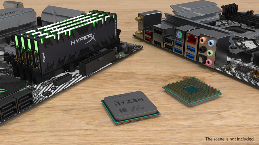 Intel und AMD CPU Collection royalty-free 3d model - Preview no. 11
