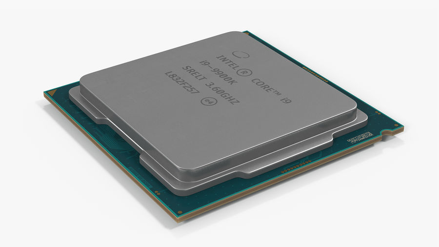 Intel und AMD CPU Collection royalty-free 3d model - Preview no. 19