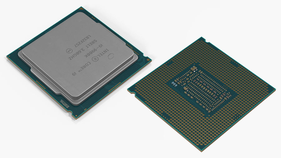 Intel und AMD CPU Collection royalty-free 3d model - Preview no. 17