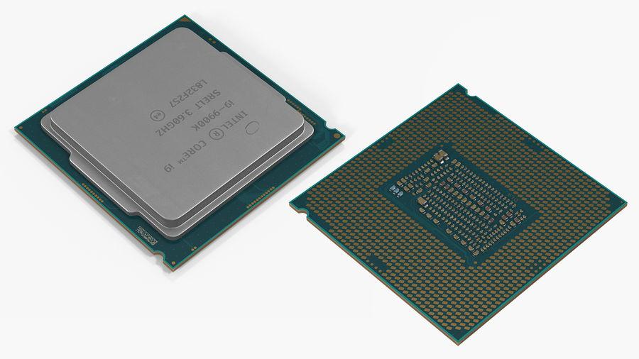 Collection de processeurs Intel et AMD royalty-free 3d model - Preview no. 17