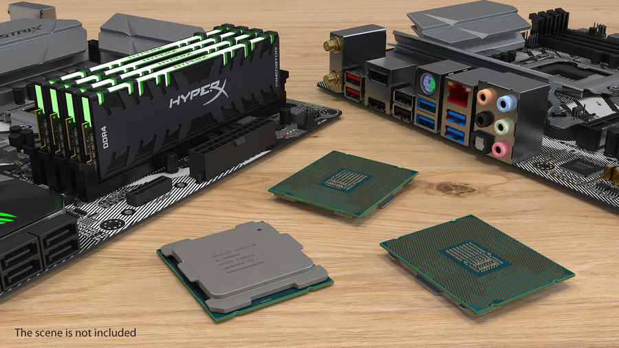 Intel und AMD CPU Collection royalty-free 3d model - Preview no. 4