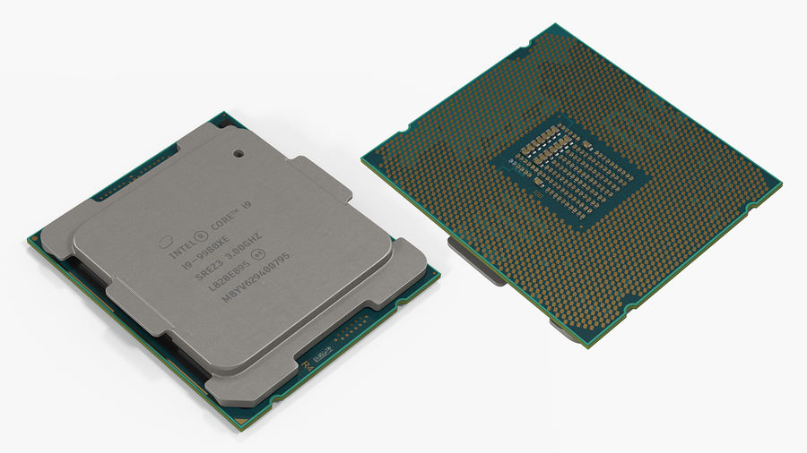 Intel und AMD CPU Collection royalty-free 3d model - Preview no. 6