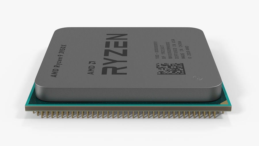 Collection de processeurs Intel et AMD royalty-free 3d model - Preview no. 13