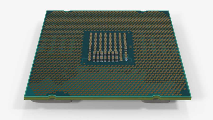 Intel und AMD CPU Collection royalty-free 3d model - Preview no. 8