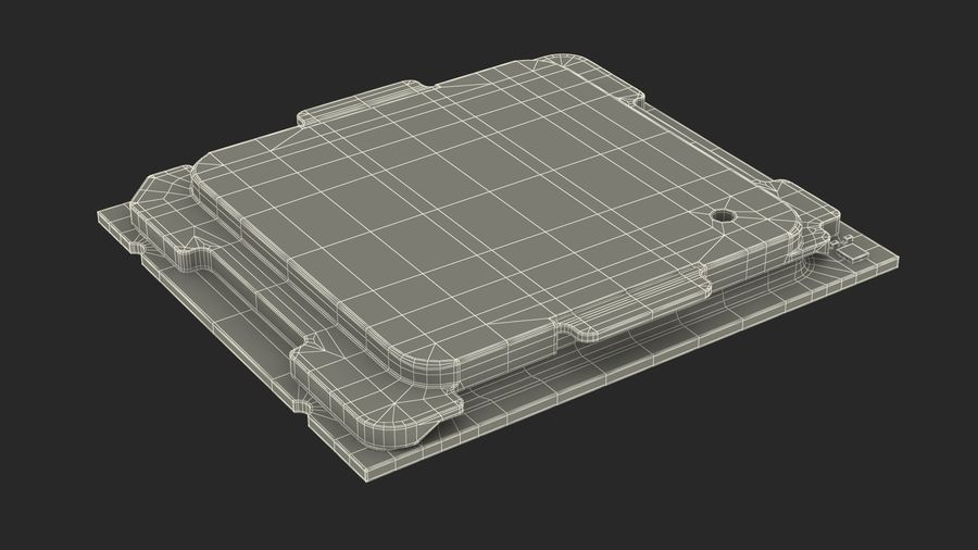 Intel und AMD CPU Collection royalty-free 3d model - Preview no. 21