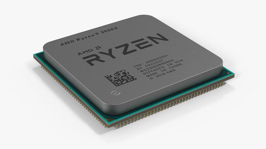 Collection de processeurs Intel et AMD royalty-free 3d model - Preview no. 10