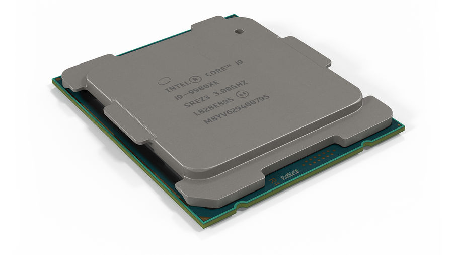 Intel und AMD CPU Collection royalty-free 3d model - Preview no. 3