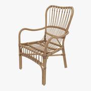 Krzesło rattanowe 3d model