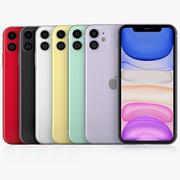 iPhone 11 todas as cores 3d model