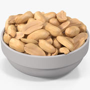 Peanuts in a Plate 3d model