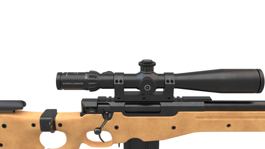 L115a3 Awp Sniper Rifle1 royalty-free 3d model - Preview no. 14