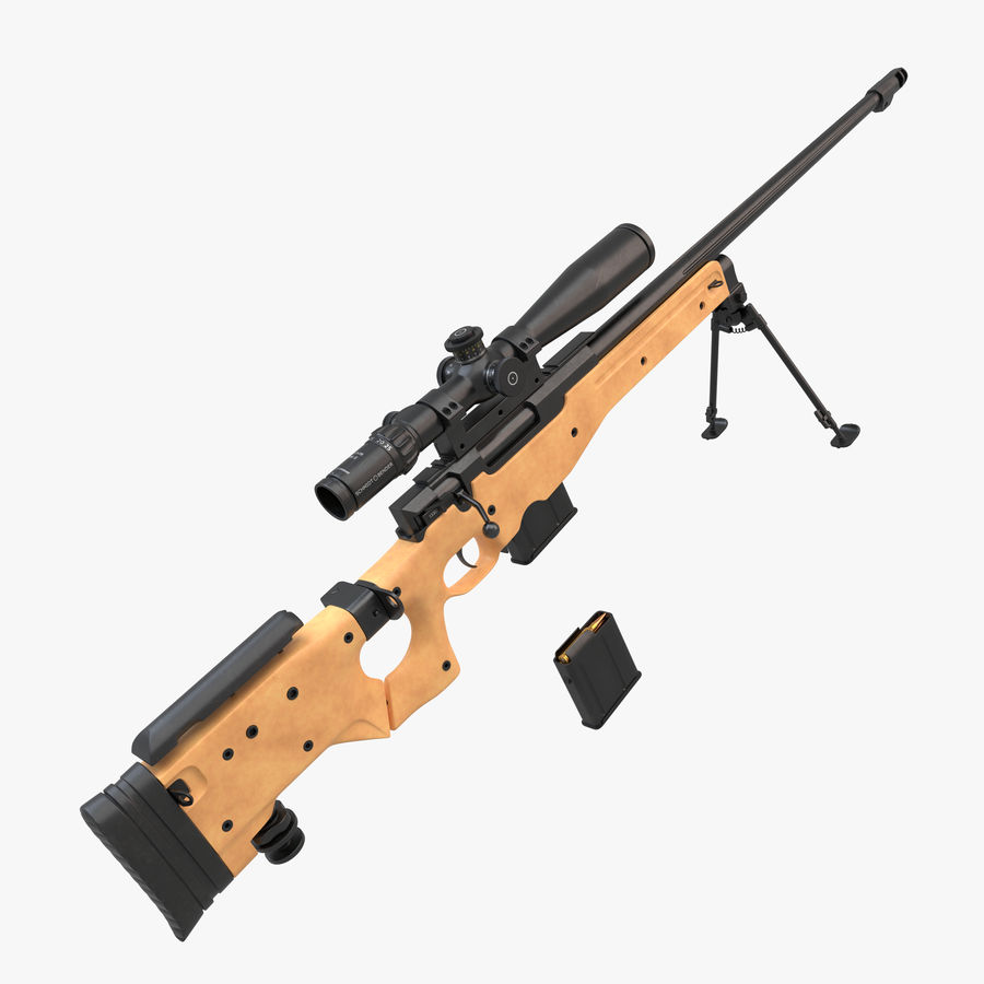 L115a3 Awp Sniper Rifle1 royalty-free 3d model - Preview no. 1