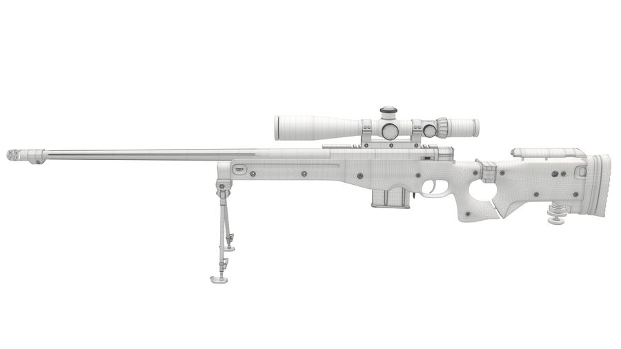 L115a3 Awp Sniper Rifle1 royalty-free 3d model - Preview no. 23