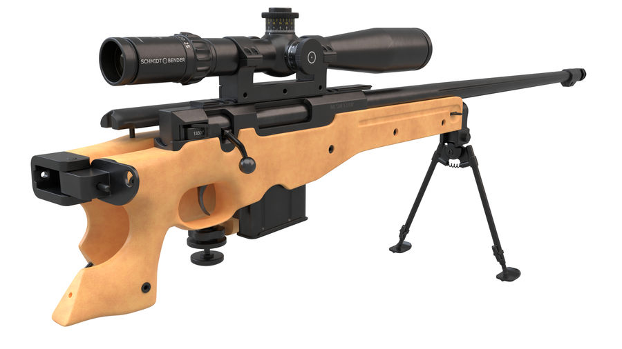 L115a3 Awp Sniper Rifle1 royalty-free 3d model - Preview no. 13