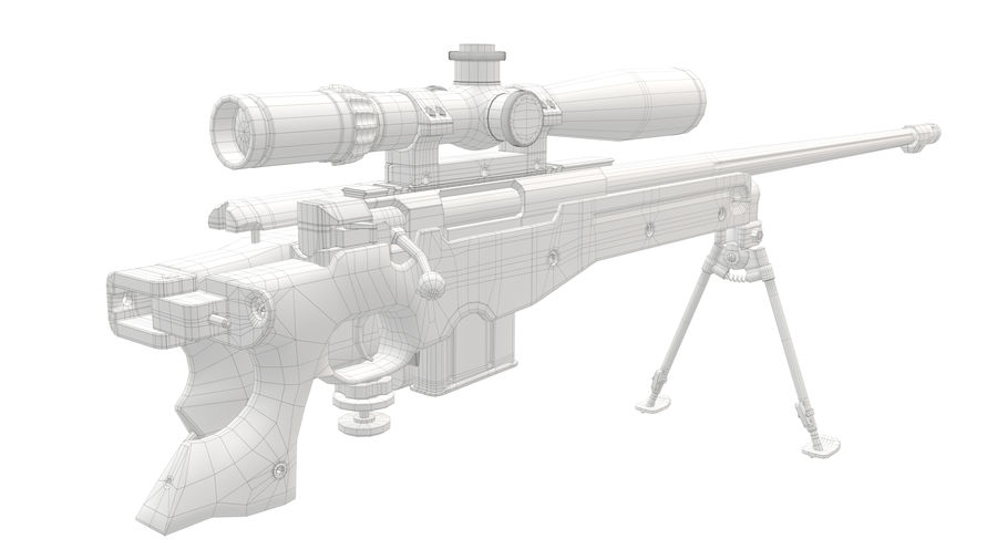 L115a3 Awp Sniper Rifle1 royalty-free 3d model - Preview no. 27