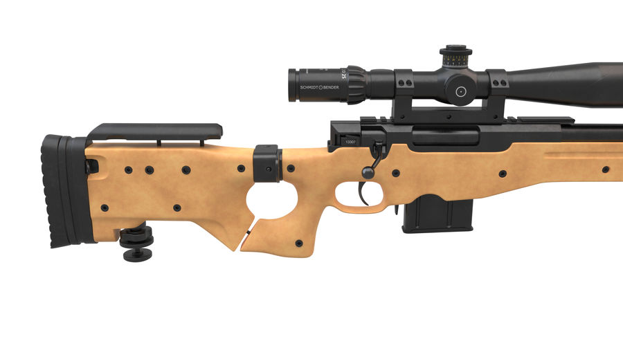 L115a3 Awp Sniper Rifle1 royalty-free 3d model - Preview no. 10