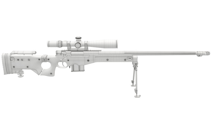L115a3 Awp Sniper Rifle1 royalty-free 3d model - Preview no. 22