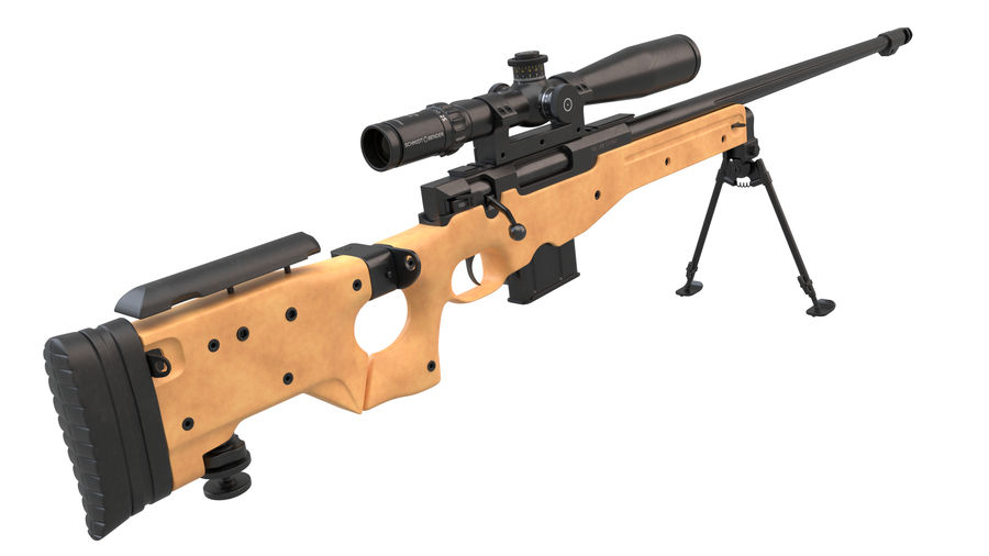 L115a3 Awp Sniper Rifle1 royalty-free 3d model - Preview no. 7